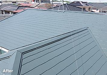 屋根塗替え⼯事