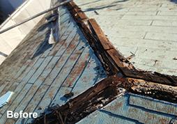 かぶせ屋根(カバー工法)