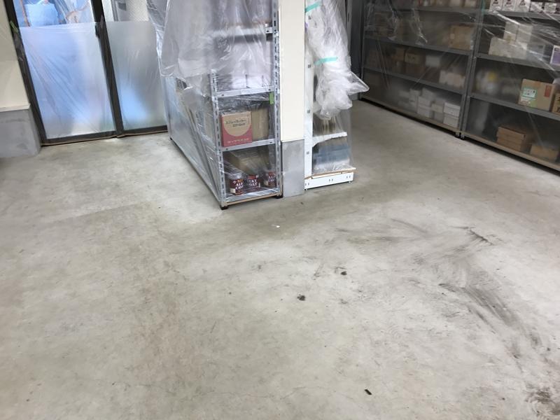 埼玉県八潮市 M様邸 店舗内 床塗装工事(ペースト工法)