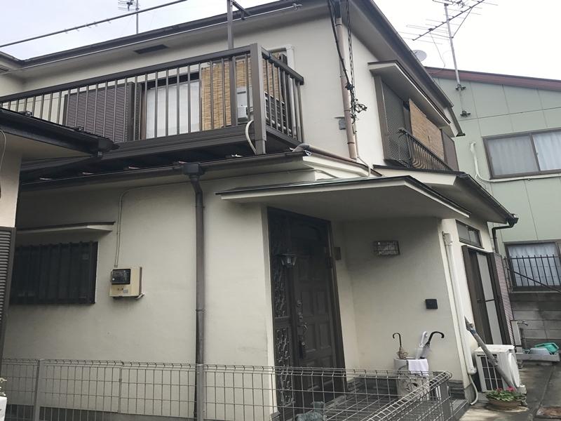 東京都足立区 E様邸 モルタル塗装工事