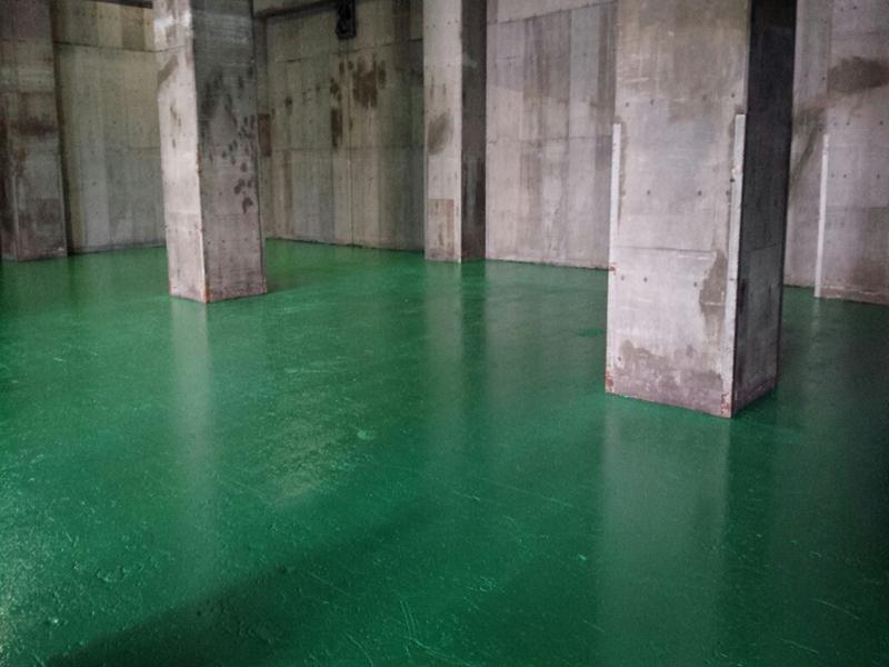 東京都 N倉庫 床塗装工事