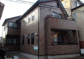千葉県松戸市 Eアパート サイディングクリア塗装